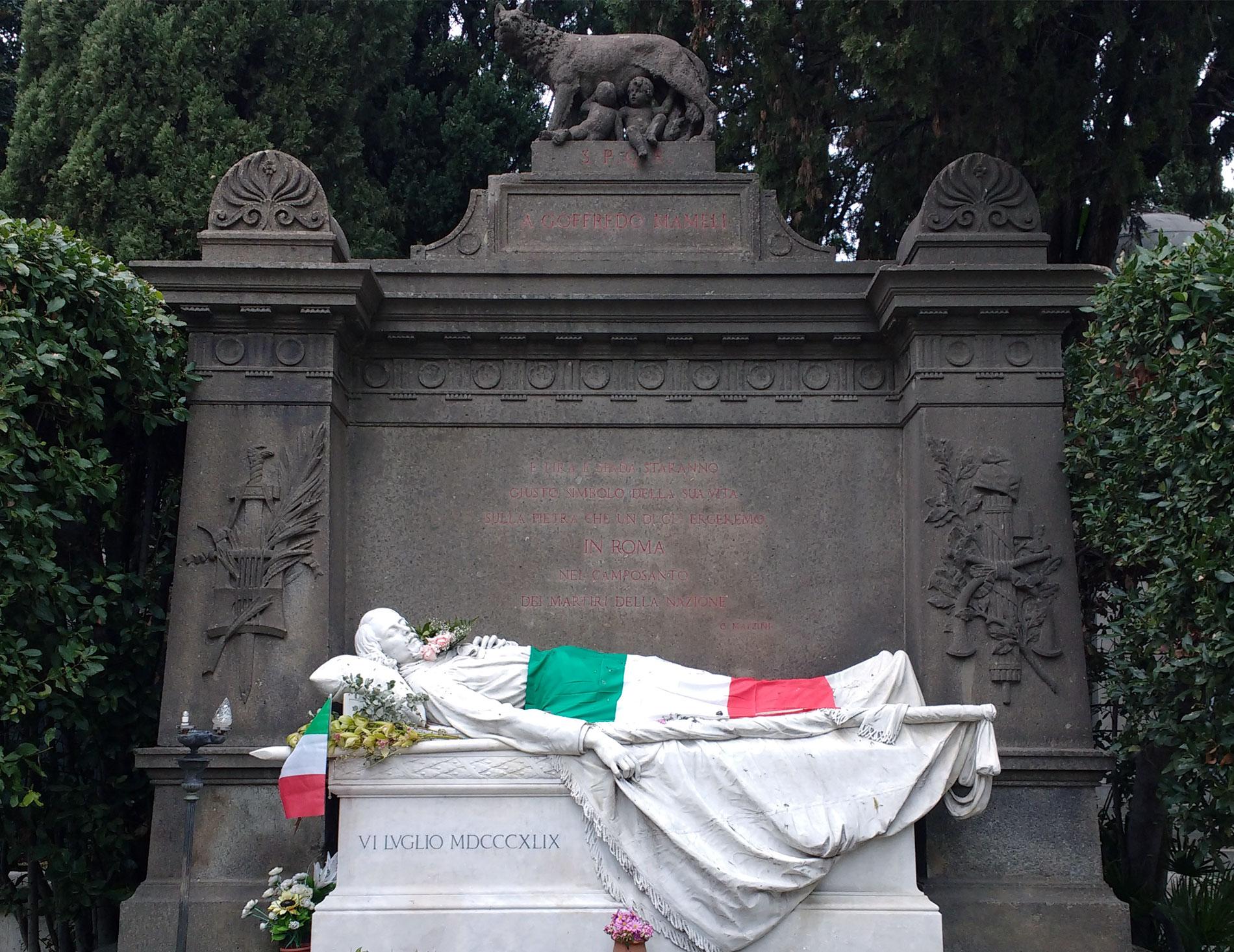 Taffo Onoranze Funebri - Cimitero Del Verano - Monumento Funebre Dedicato a Goffredo Mameli